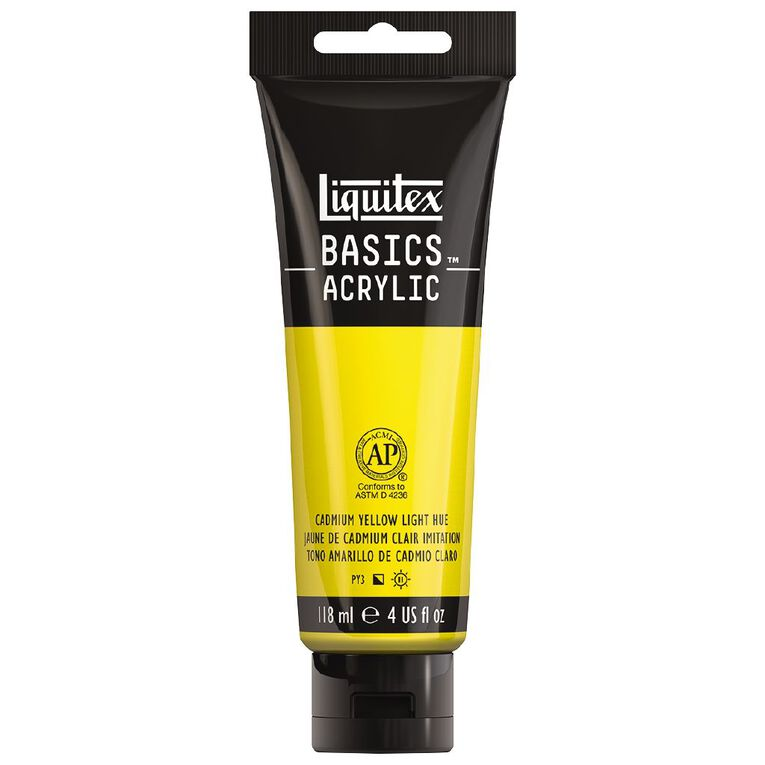 Liquitex Basics Acrylic 118ml Cadmium Yellow Light Hue, , hi-res