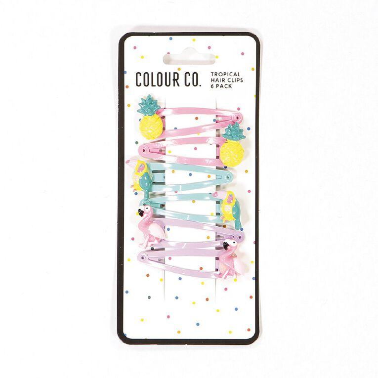 Colour Co. Tropical Hair Clips 6 Pack, , hi-res