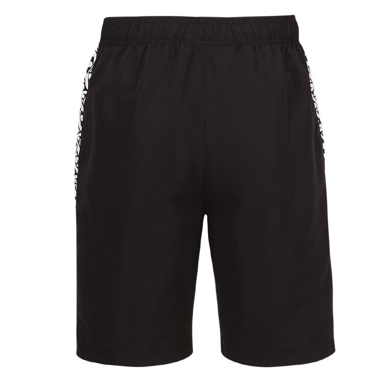 Active Intent Men's Supporter Printed Side Panel Shorts, Black/White, hi-res