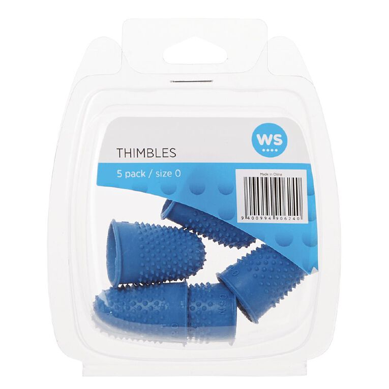 WS Thimbles Size 0 Each 5 Pack, , hi-res