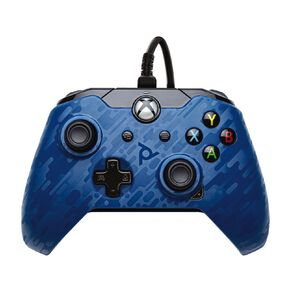 PDP XboxOne Wired Controller Blue Camo