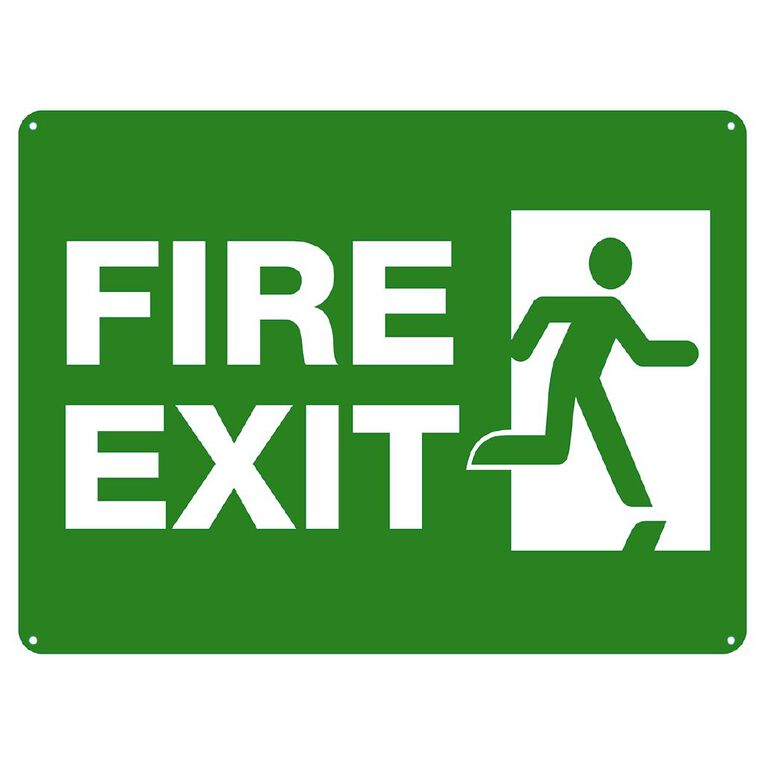 WS Fire Exit Sign Large 450mm x 600mm, , hi-res