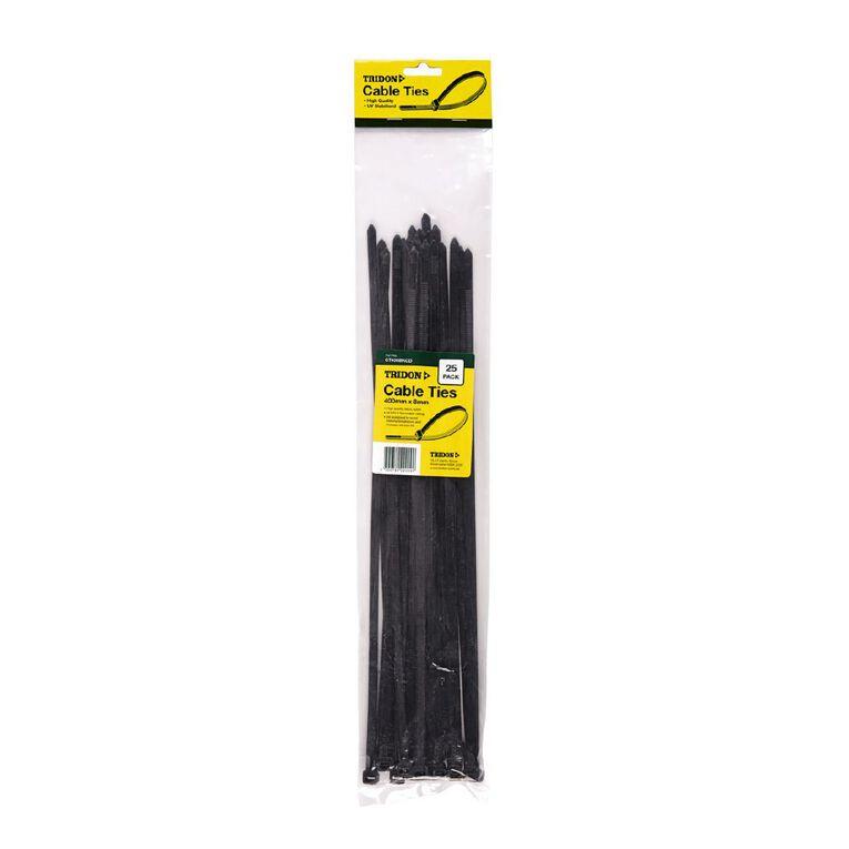 Tridon Cable Tie 400mm x 8mm Black, , hi-res