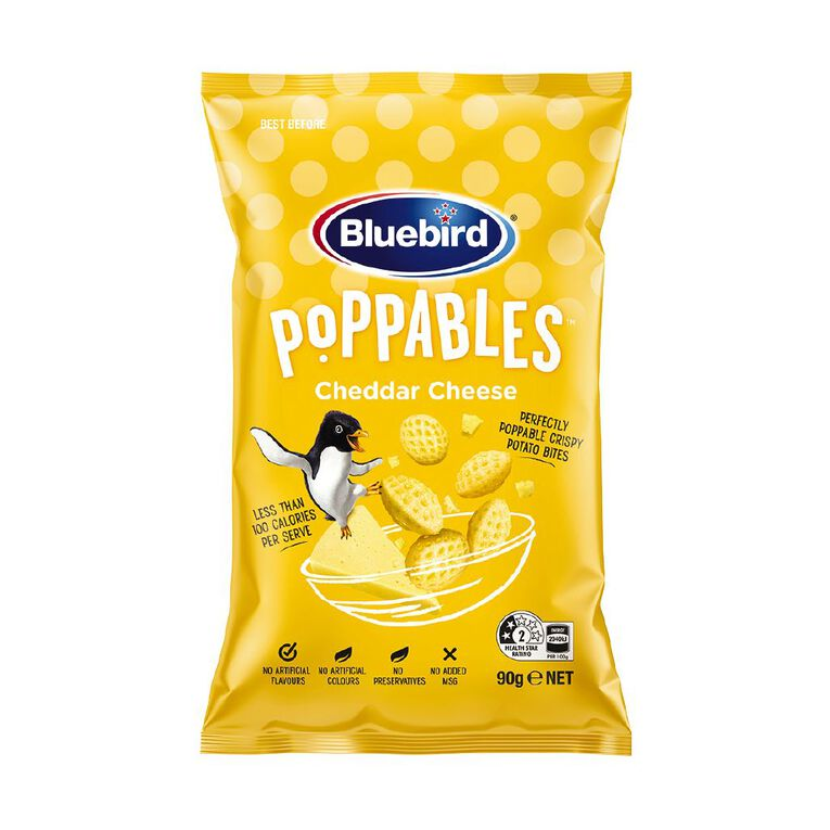 Bluebird Poppables Cheddar Cheese 90g, , hi-res image number null