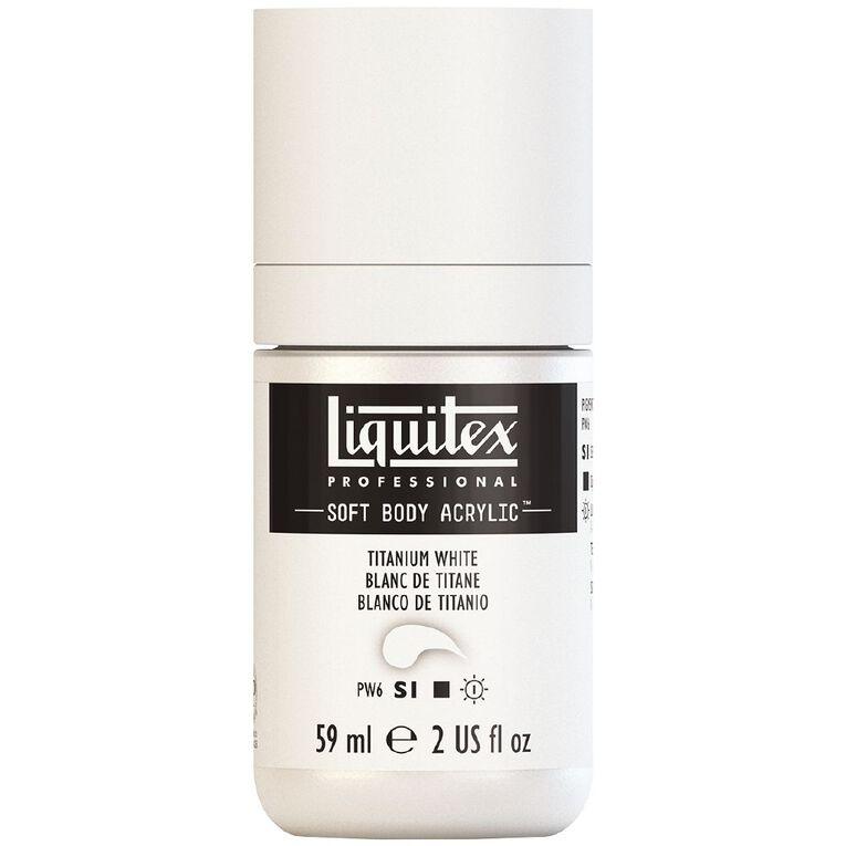 Liquitex Soft Body Acrylic 59ml Titanium White S1, , hi-res