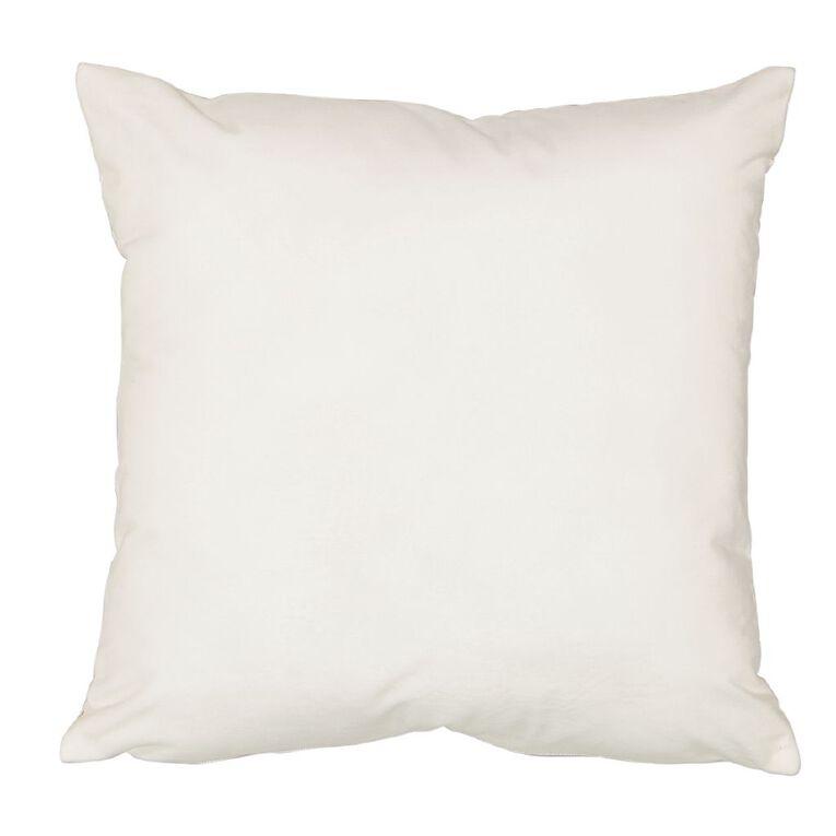 Living & Co Metro Metallic Printed Cushion White 45cm x 45cm, White, hi-res