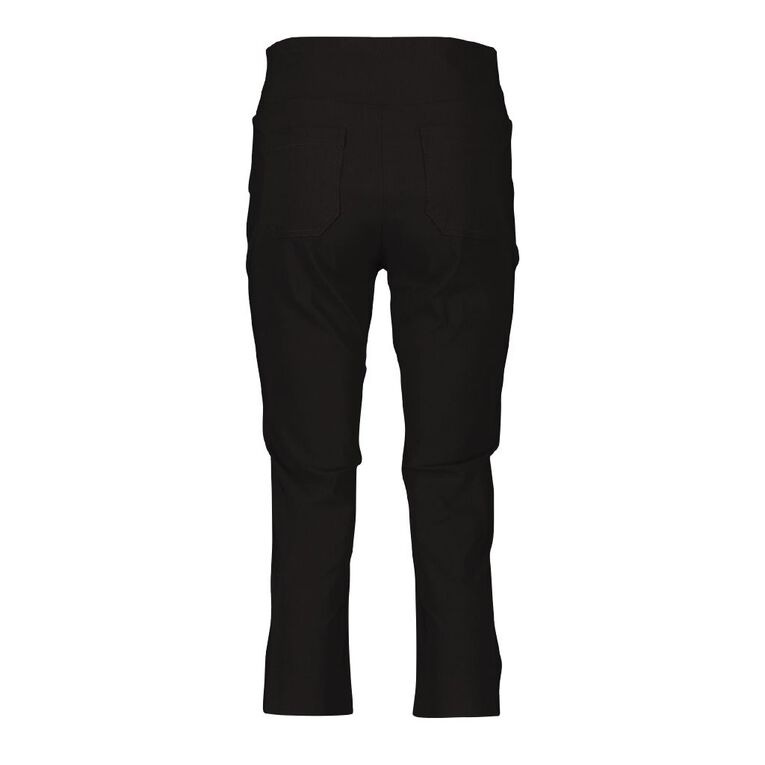 H&H Women's Bengaline Cropped Pants, Black, hi-res