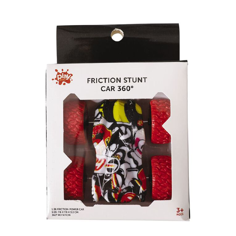 Play Studio Friction Stunt Car 360 Rotate Assorted, , hi-res