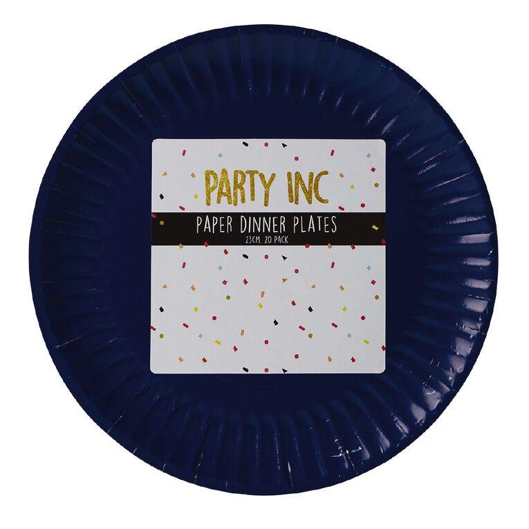 Party Inc Paper Dinner Plates 23cm Royal Blue 20 Pack, , hi-res