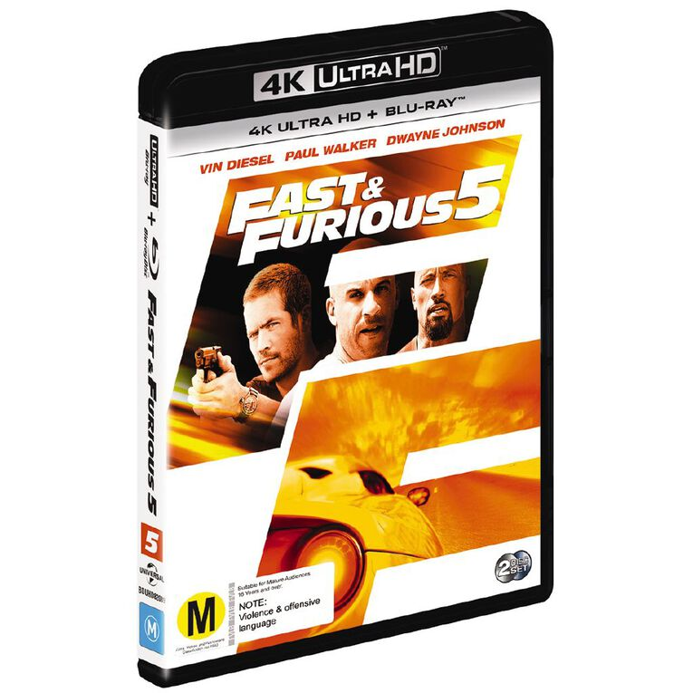 Fast & The Furious 5 4K Blu-ray 2Disc, , hi-res