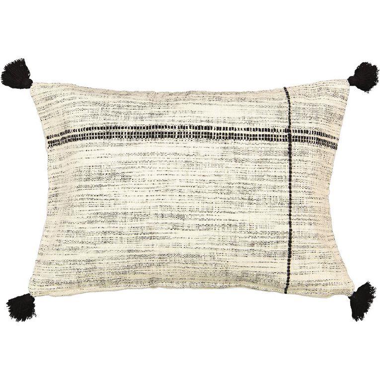 Living & Co Fleck Breakfast Cushion Natural 40cm x 60cm, Natural, hi-res