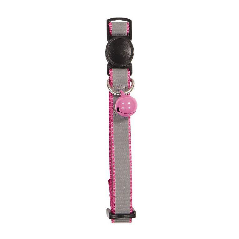 Petzone Reflective Cat Collar Pink Break-away Adjustable, , hi-res