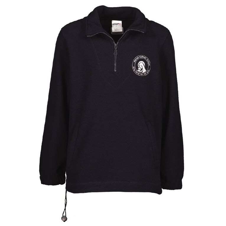 Schooltex Marian Catholic School New Polar Fleece Top with Embroidery, Navy, hi-res