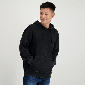 Garage Men's Hooded Acid Washed Sweatshirt
