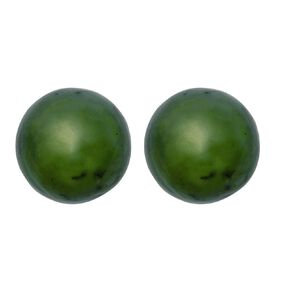 Jade Ball Earrings 6mm