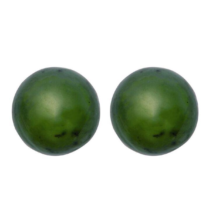 Jade Ball Earrings 6mm, , hi-res
