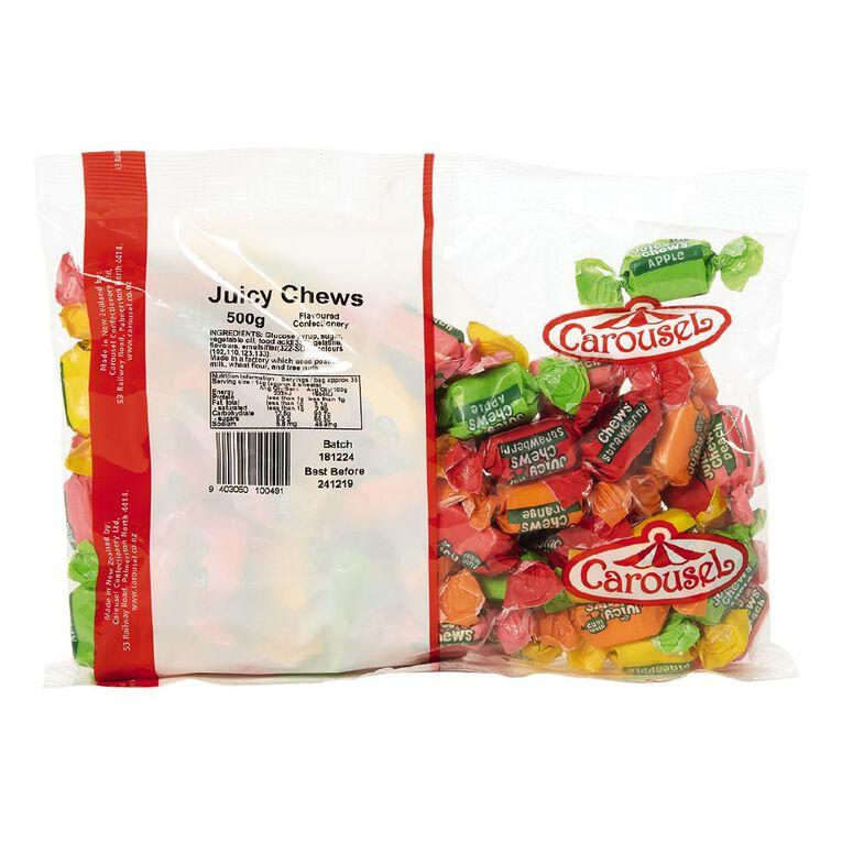 Carousel Fruit Flavourd Juicy Chews 500g, , hi-res