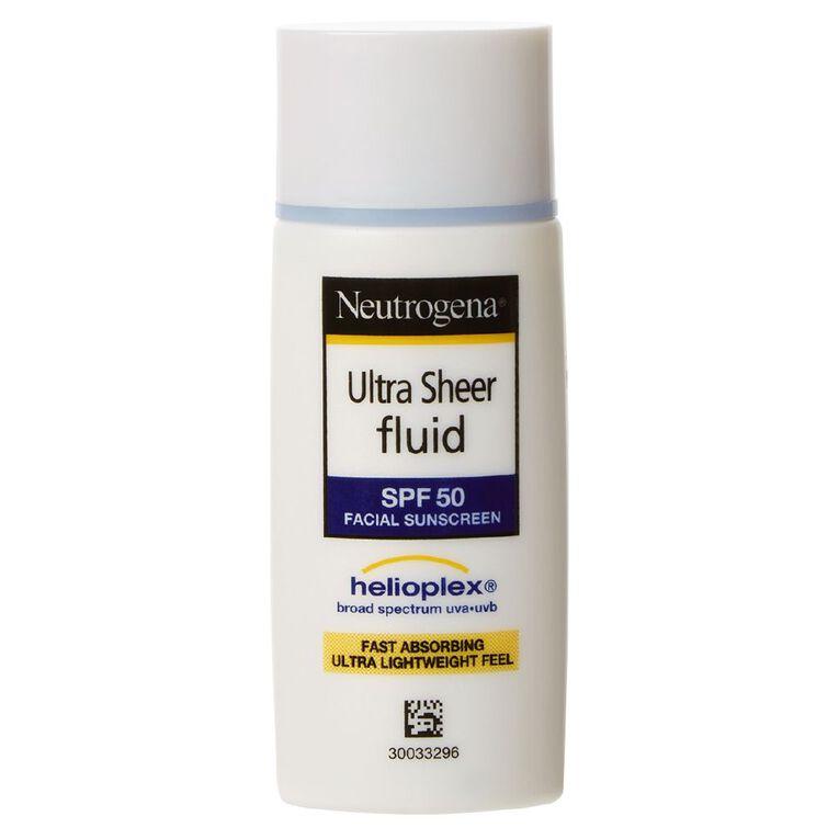 Neutrogena Ultra Sheer Fluid Sunscreen SPF50 40ml, , hi-res