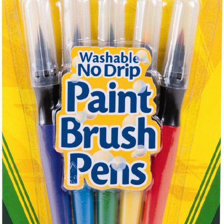 Crayola Washable Paint Brush Pens Multi-Coloured 5 Pack, , hi-res