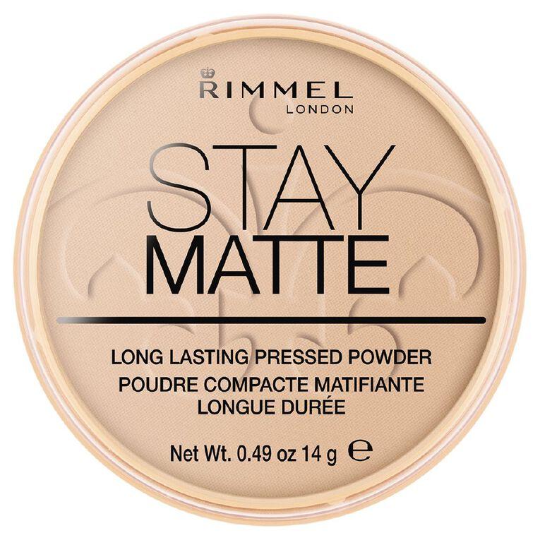 Rimmel Stay Matte Pressed Powder Silky Beige, , hi-res
