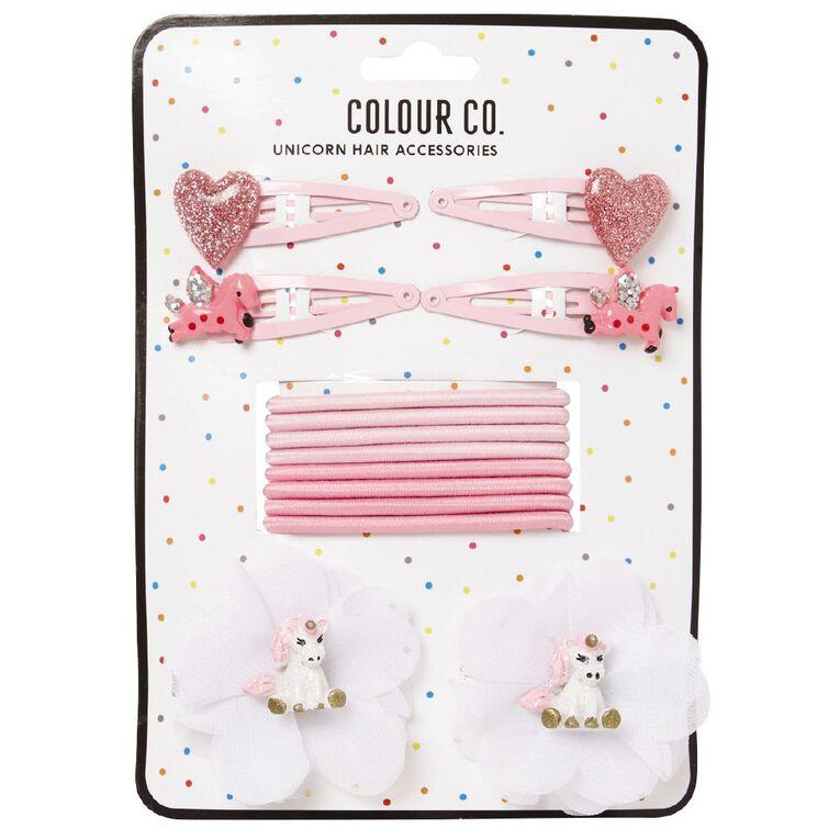 Colour Co. Unicorn Hair Accessories Set Pink, , hi-res