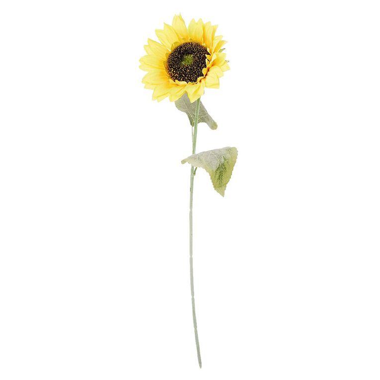 Living & Co Artificial Sunflower Stem 60cm Yellow, , hi-res