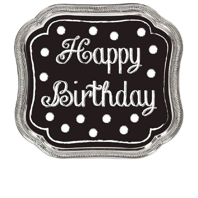 Amscan Happy Birthday Cake Topper Black, , hi-res