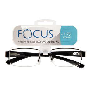 Focus Reading Glasses Half Eye Gunmetal 1.75