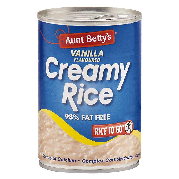 Aunt Betty's Creamy Rice Vanilla 425G, , hi-res