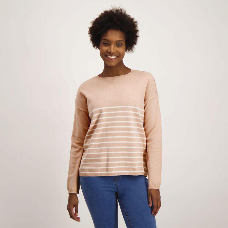H&H Women's Long Sleeve Drop Shoulder Core Jumper, Pink Light, hi-res