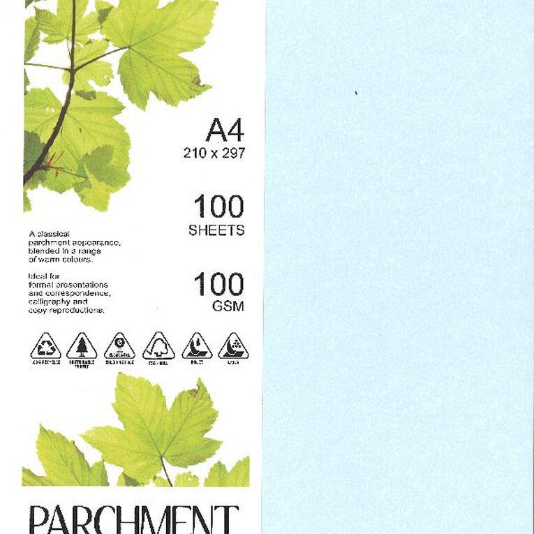 Direct Paper Parchment Paper 100gsm 100 Pack Sirius Blue A4, , hi-res