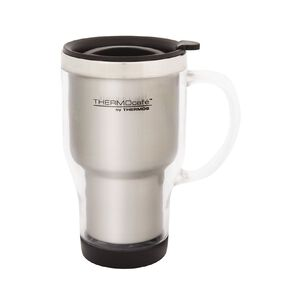 Thermos Travel Mug With Handle Grey 450ml