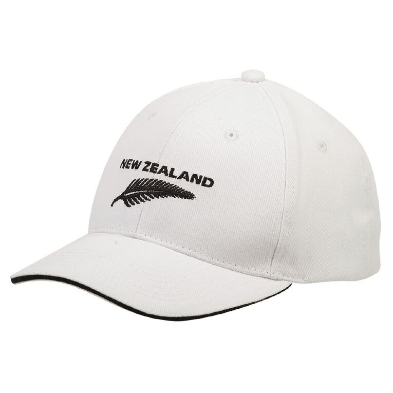 H&H Men's NZ Fern Cap, White, hi-res