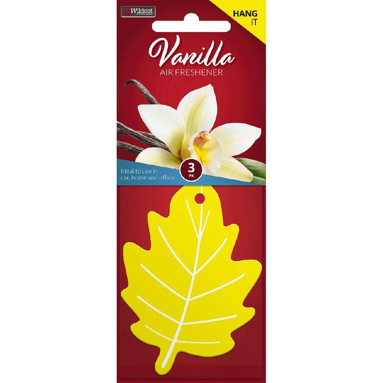 Wildcat Auto Air Freshener Leaf Vanilla 3 Pack, , hi-res