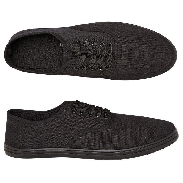 H&H Sting Canvas Shoes, Black, hi-res