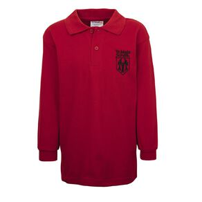 Schooltex Te Mata Havelock North Long Sleeve Polo with Embroidery
