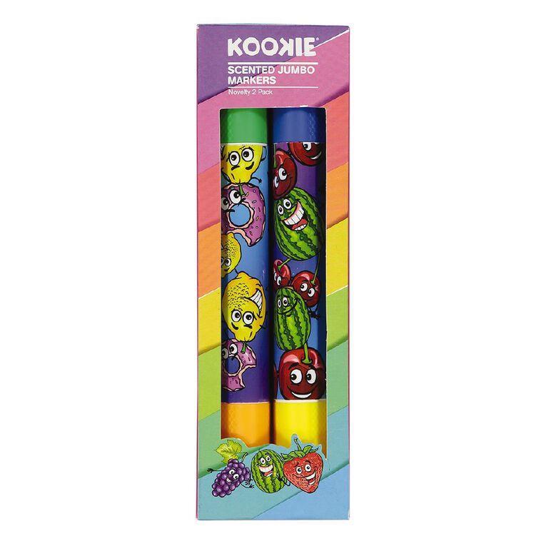Kookie Novelty Jumbo Markers Scented 2 Pack Multi-Coloured, , hi-res