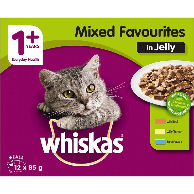 Whiskas Favourites Jelly 12 Pack, , hi-res
