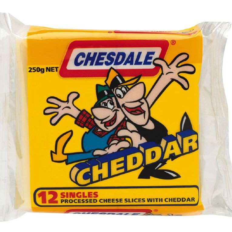 Chesdale Slices Cheddar 250g, , hi-res