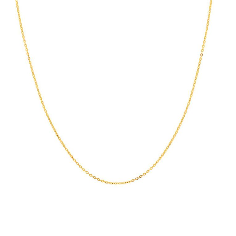 9ct Gold Cable Fine Chain, , hi-res