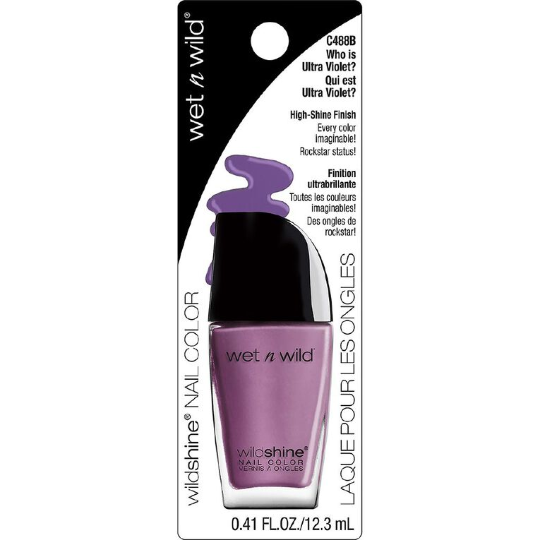 Wet n Wild Wild Shine Nail Color Who is Ultra Violet?, , hi-res