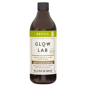 Glow Lab Hand Wash Antibacterial Refill Lemongrass & Lime 600ml