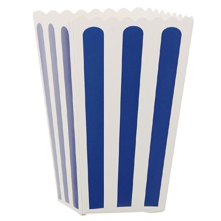 Party Inc Popcorn Boxes Blue Stripe 8 Pack, , hi-res