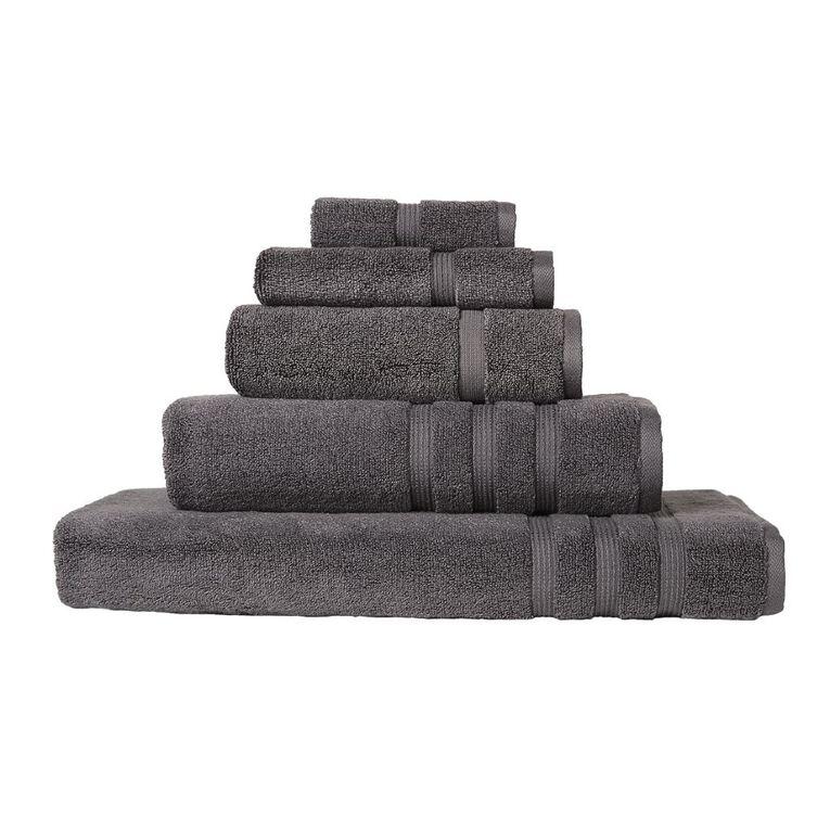 Living & Co Montreal Bath Towel Pewter Charcoal 137cm x 68cm, Charcoal, hi-res