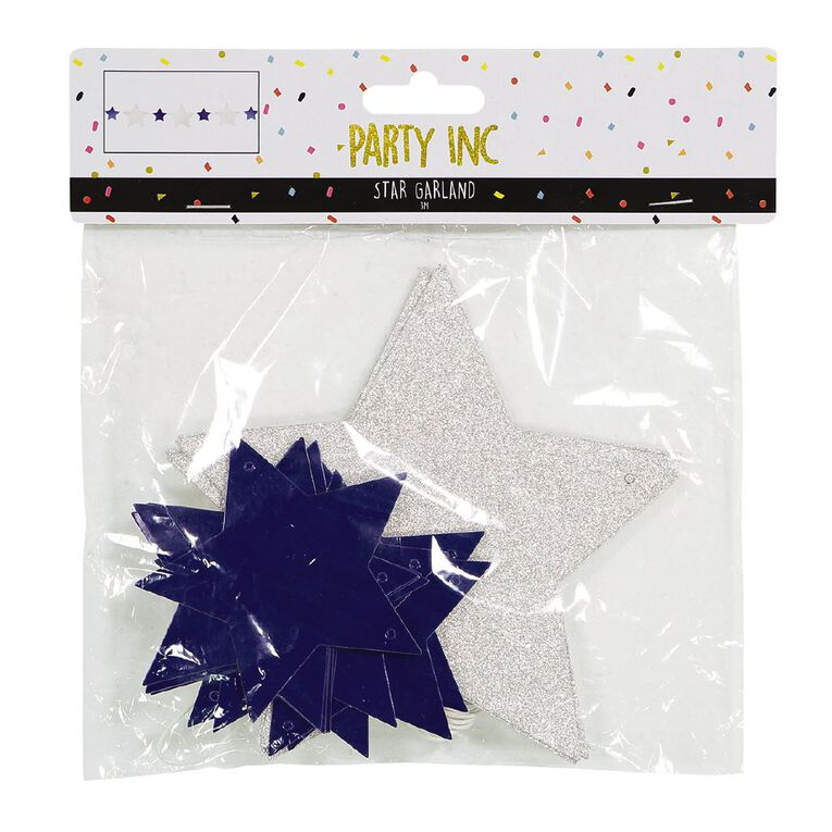 Party Inc Star Garland 3m Multi-Coloured, , hi-res