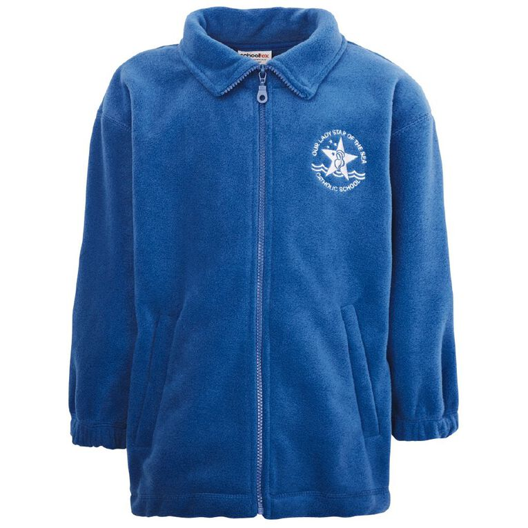 Schooltex Our Lady Star of the Sea Polar Fleece Jacket with Embroidery, Royal, hi-res