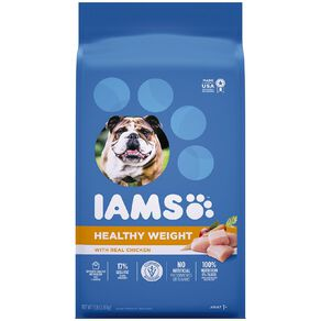 Iams Healthy Weight Adult Dry Dog Food with Real Chicken 3.18kg Bag
