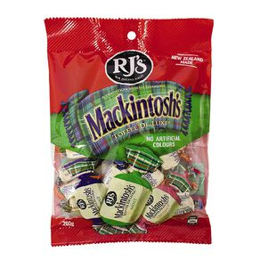 RJ's Mackintosh Toffee Family Pack 200g