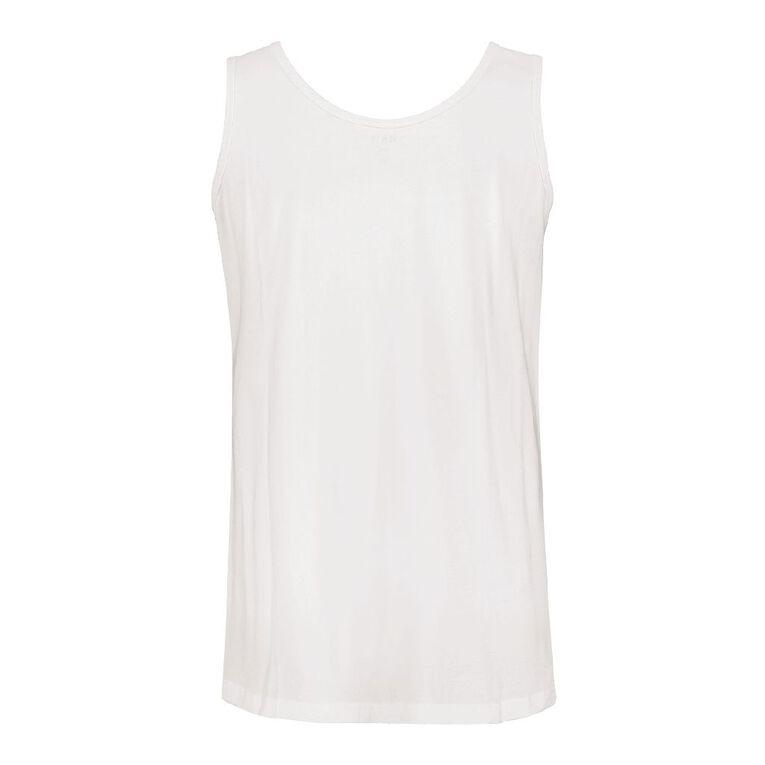 H&H Plus Women's Knit Tank, White, hi-res