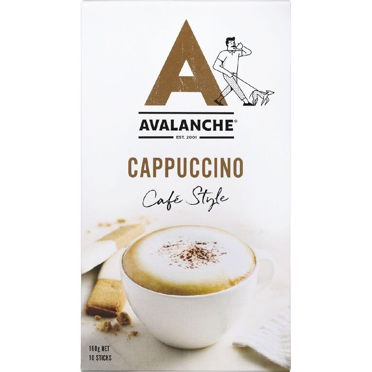 Avalanche Cafe Style Cappucino 10 Pack, , hi-res